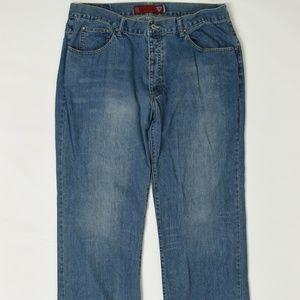 Guess Jeans Big & Tall  Blue 40 x 33 Straight Cott